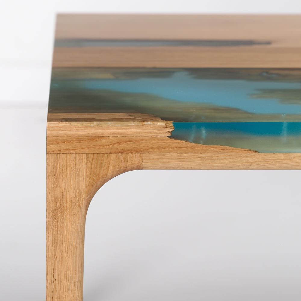 madera y resina